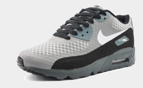 Nike Air Max 90 Hyperfuse серые с черным
