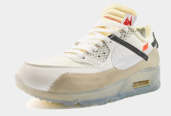 Nike Air Max 90 The Ten белые с серым