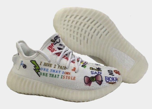 Фото Adidas Yeezy Boost 350 V2 by Kanye West (Graffiti) - 2