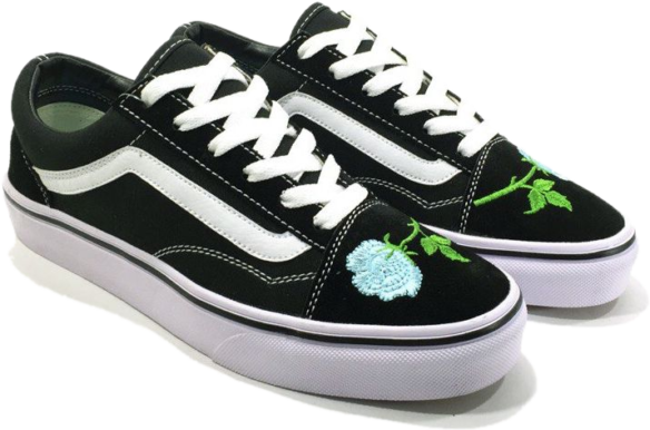 Фото Vans Old Skool (Black-White-Mint) - 1
