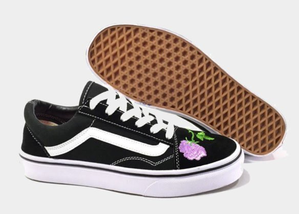 Фото Vans Old Skool (BlackWhiteRose) - 2